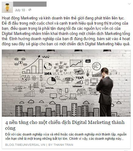 Thay vì xem Facebook Page của bạn đơn thuần như là một kênh để bán hàng và Marketing, hãy coi nó như là một phương tiện để cung cấp nguồn thông tin hữu ích cho khách hàng.