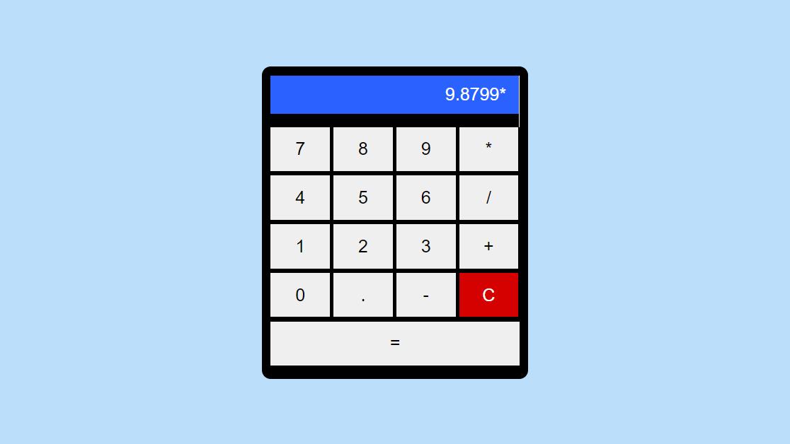 Code bảng tính đơn giản bằng HTML và Javascript